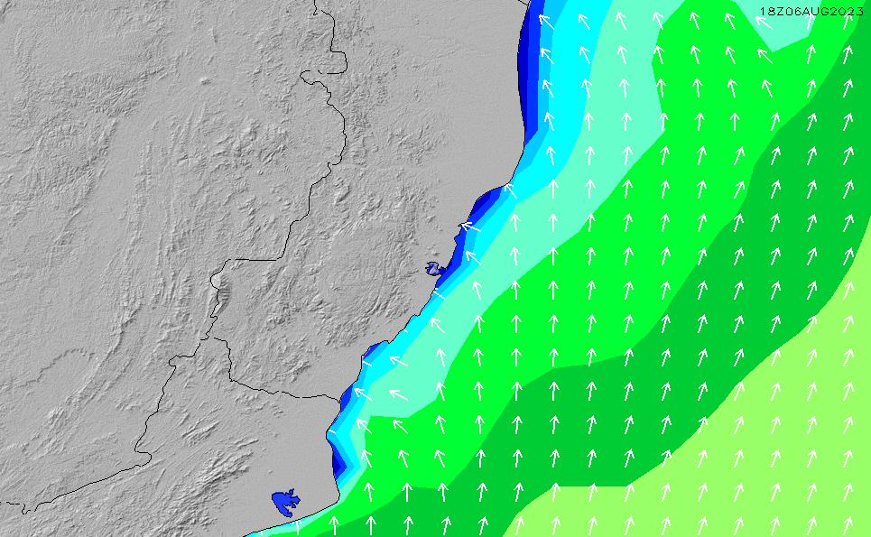 2021/2/28(日)3:00波高チャート