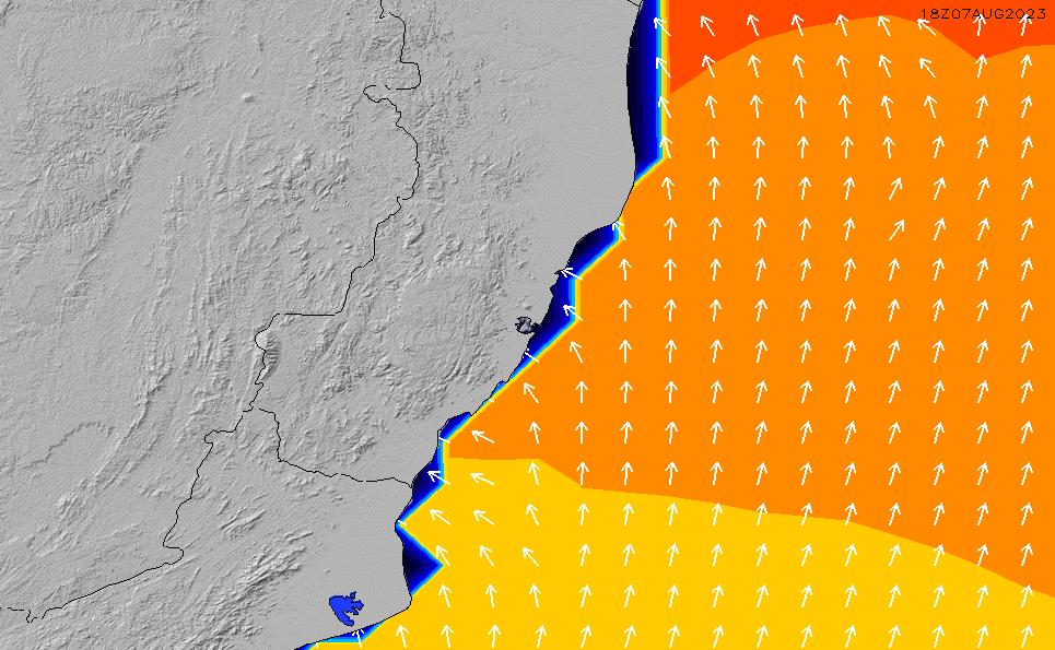 2021/1/26(火)20:00ポイントの波周期
