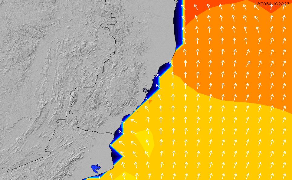 2021/3/4(木)21:00ポイントの波周期