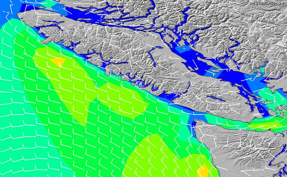2021/3/6(土)14:00風速・風向