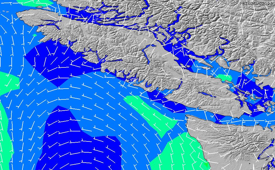 2021/3/9(火)14:00風速・風向