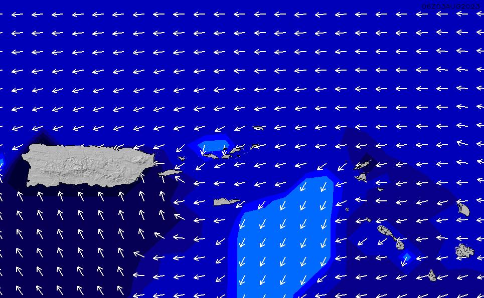 2021/8/1(日)22:00ポイントの波周期
