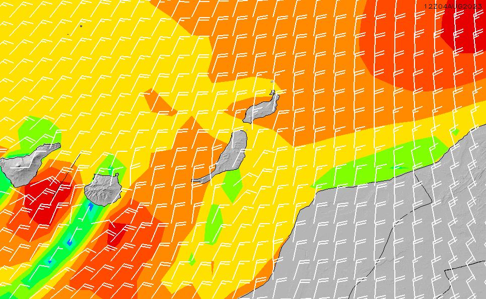 2021/5/19(水)13:00風速・風向