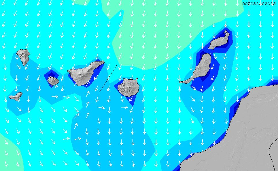 2021/3/10(水)6:00波高チャート