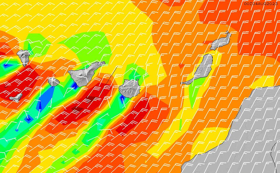 2021/3/10(水)6:00風速・風向