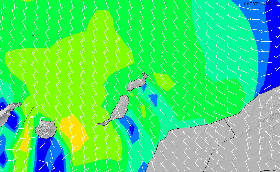 2021/4/17(土)19:00風速・風向