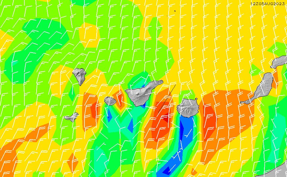 2021/1/19(火)6:00風速・風向