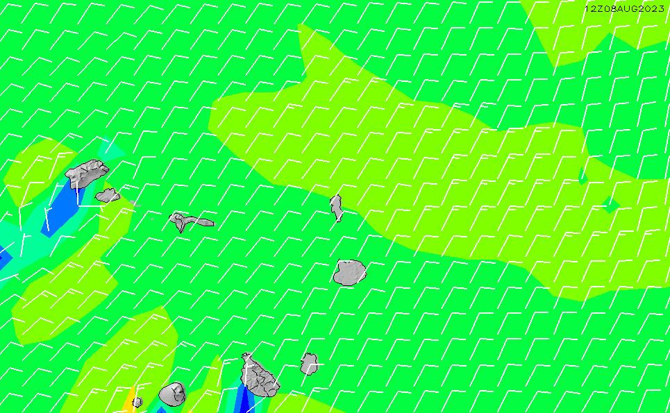2020/4/2(木)13:00風速・風向