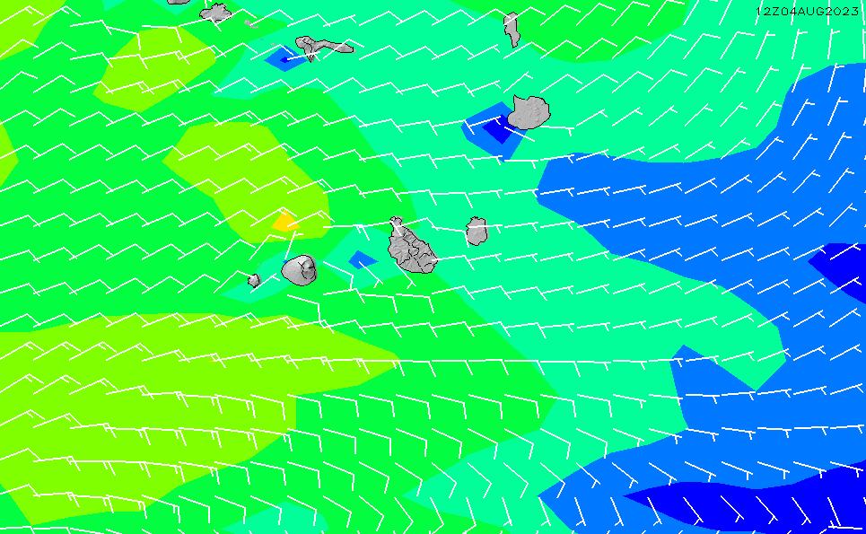 2020/4/1(水)19:00風速・風向