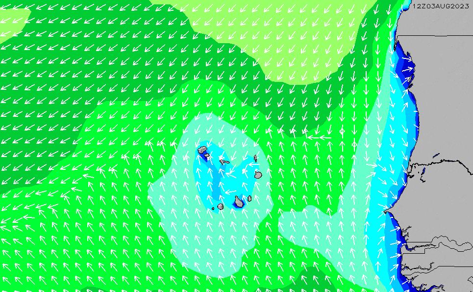 2020/9/28(月)13:00波高チャート