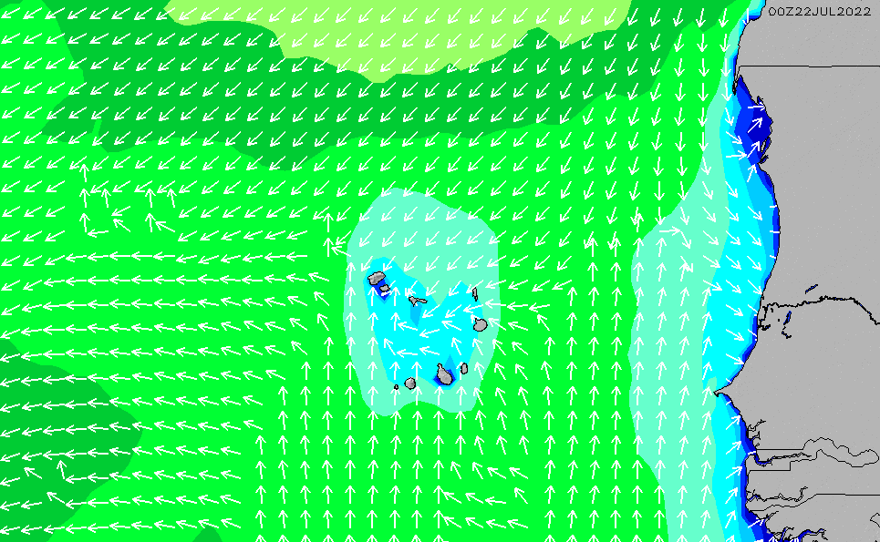 2021/3/4(木)1:00波高チャート