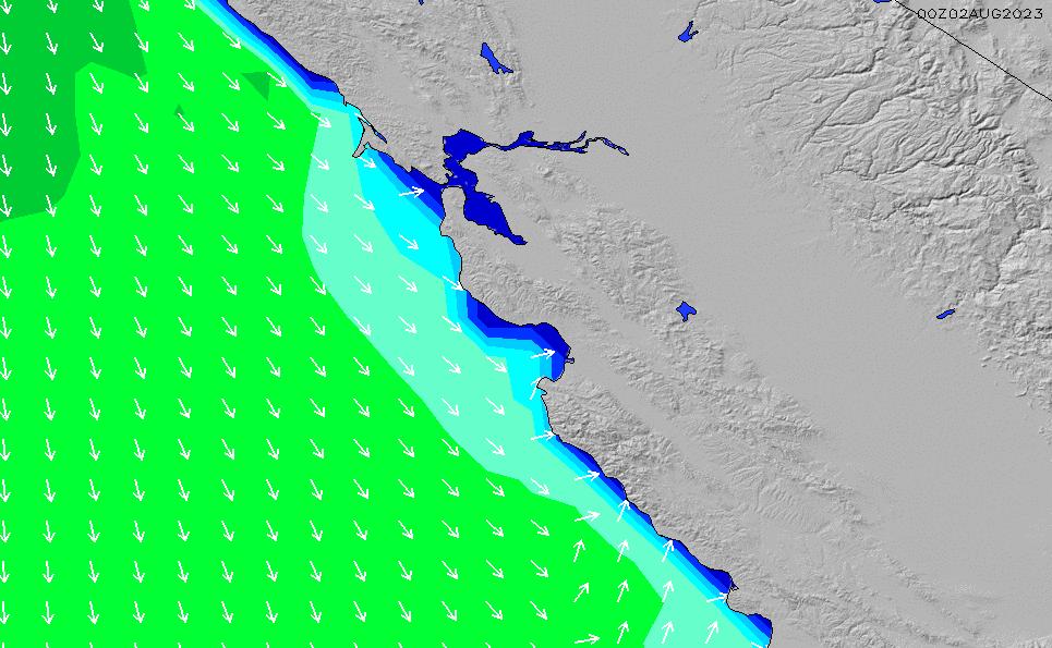 Santa Cruz Wave Height Forecast Chart - Surfline