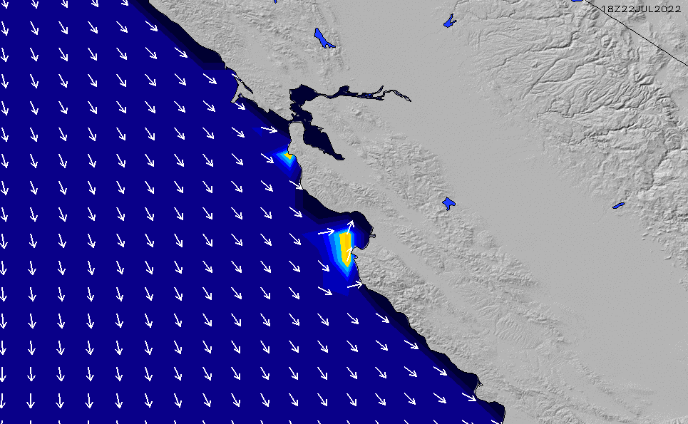 2020/7/8(水)19:00ポイントの波周期