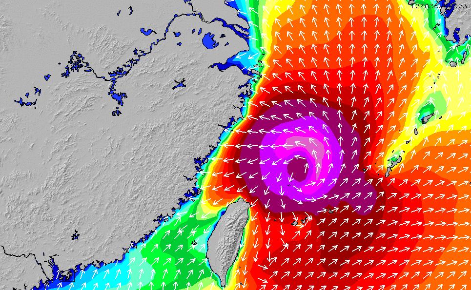 2021/3/3(水)2:00波高チャート