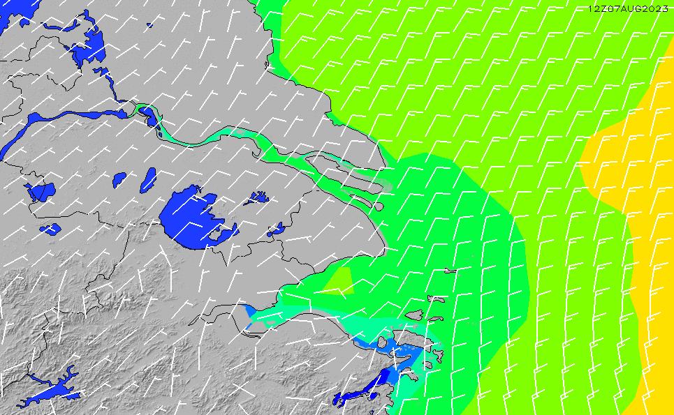 2021/5/12(水)2:00風速・風向