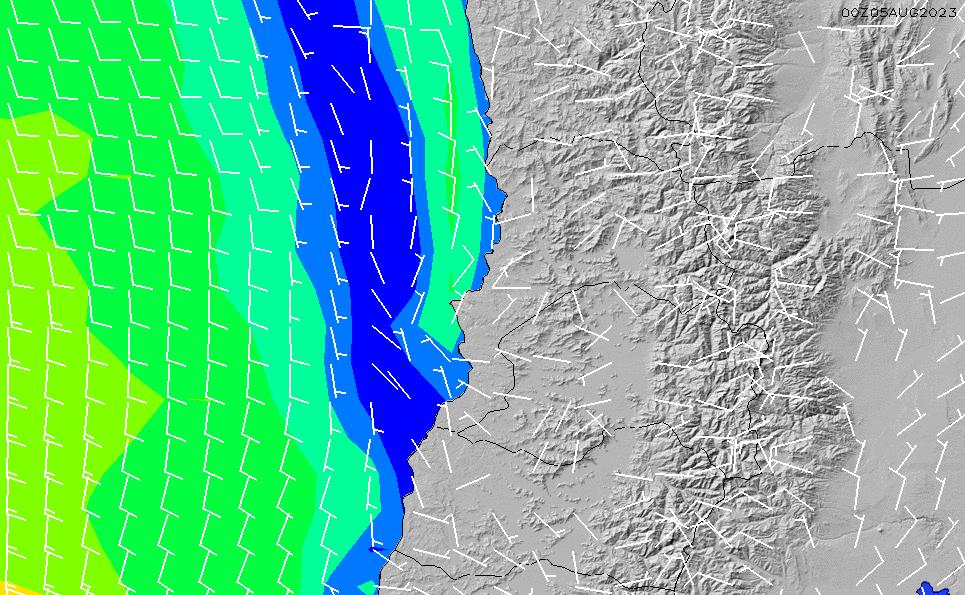 2020/9/21(月)21:00風速・風向