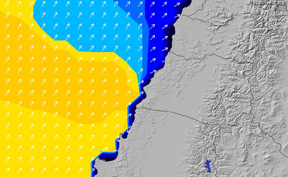 2021/3/2(火)21:00ポイントの波周期