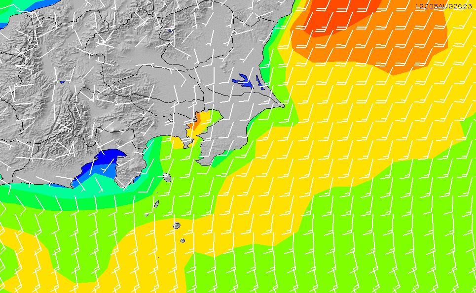 2020/8/15(土)9:00風速・風向