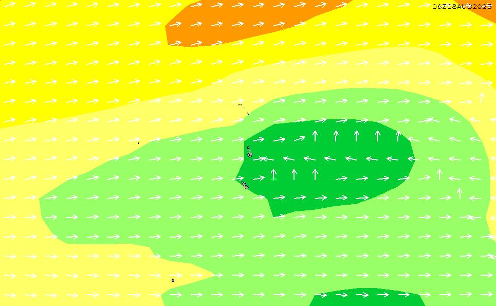 2021/3/6(土)15:00波高チャート