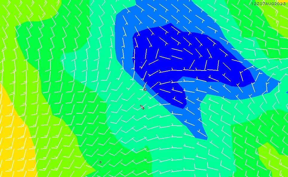 2021/3/5(金)3:00風速・風向