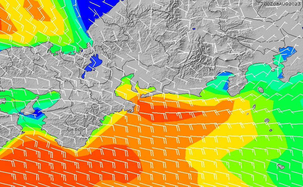 2021/5/9(日)15:00風速・風向