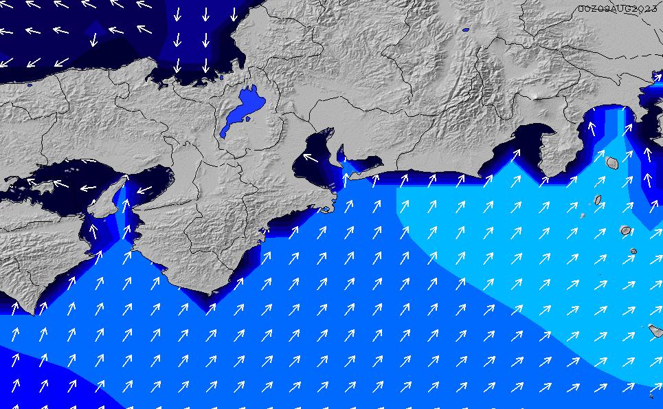 2020/1/27(月)21:00ポイントの波周期