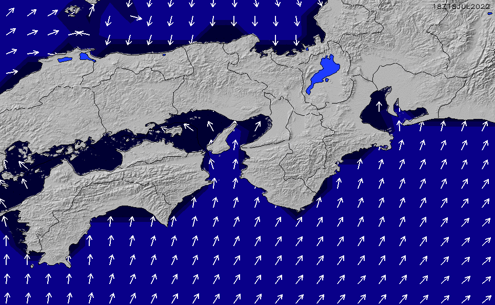 2020/7/4(土)21:00ポイントの波周期