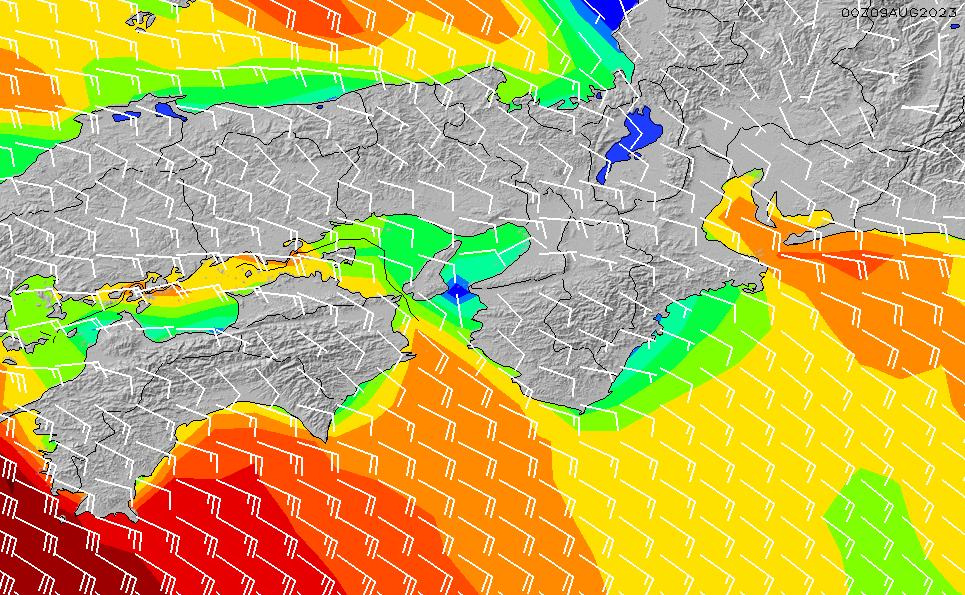 2020/4/7(火)9:00風速・風向