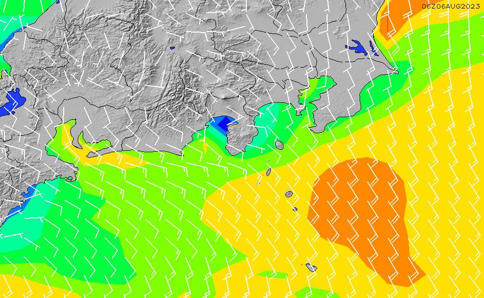 2020/7/10(金)9:00風速・風向