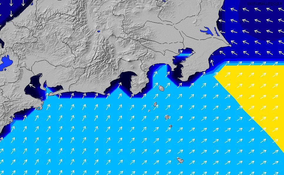 2020/7/9(木)15:00ポイントの波周期