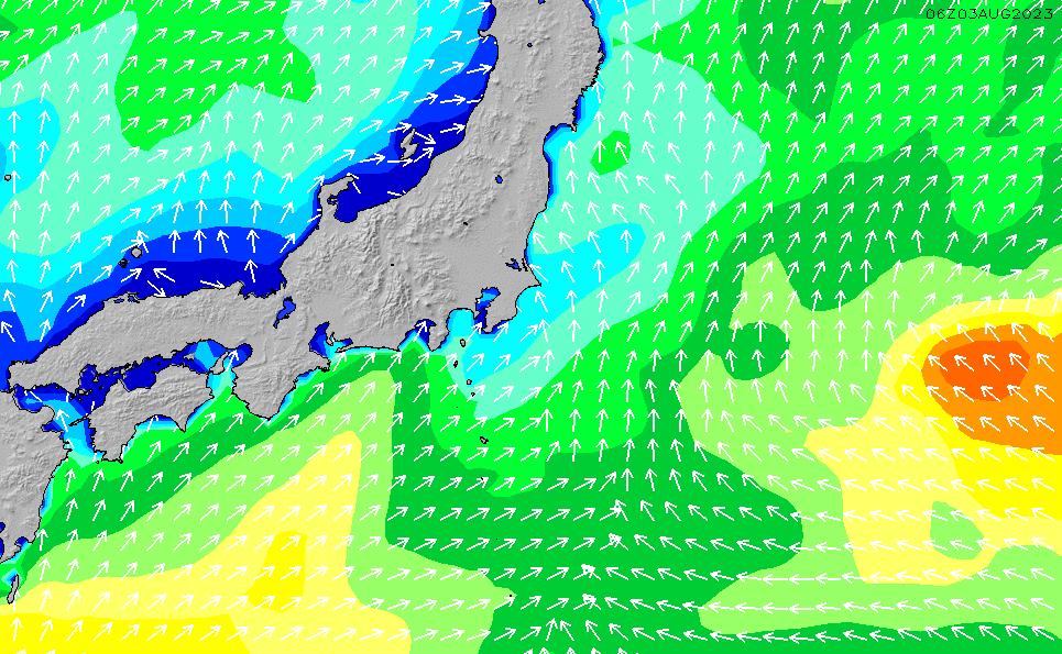 2020/1/22(水)9:00波高チャート