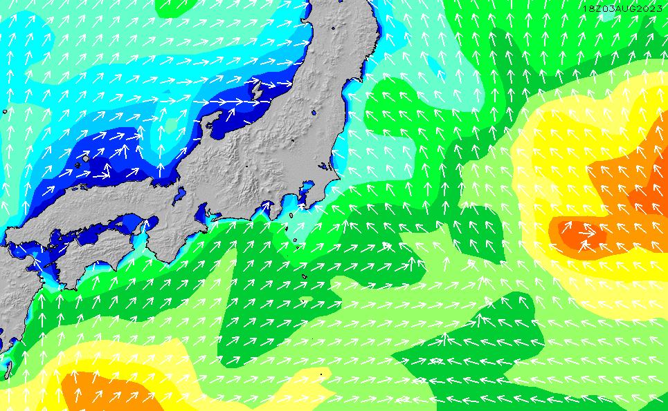 2021/5/19(水)21:00波高チャート