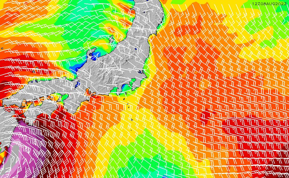 2020/2/18(火)9:00風速・風向