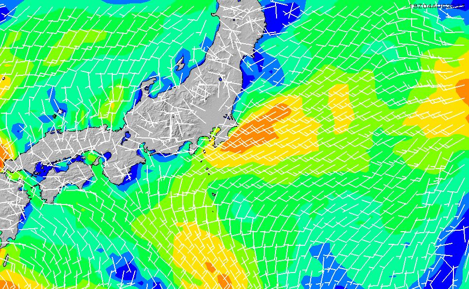 2021/1/18(月)9:00風速・風向