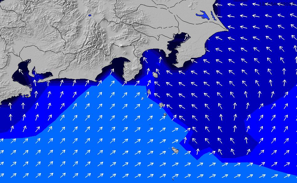 2020/8/15(土)9:00ポイントの波周期
