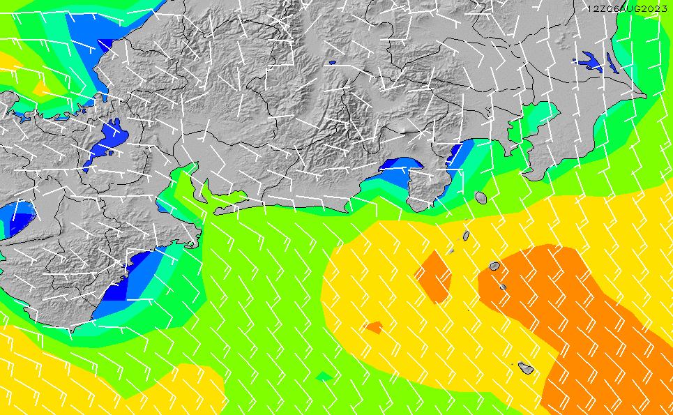 2020/1/18(土)21:00風速・風向