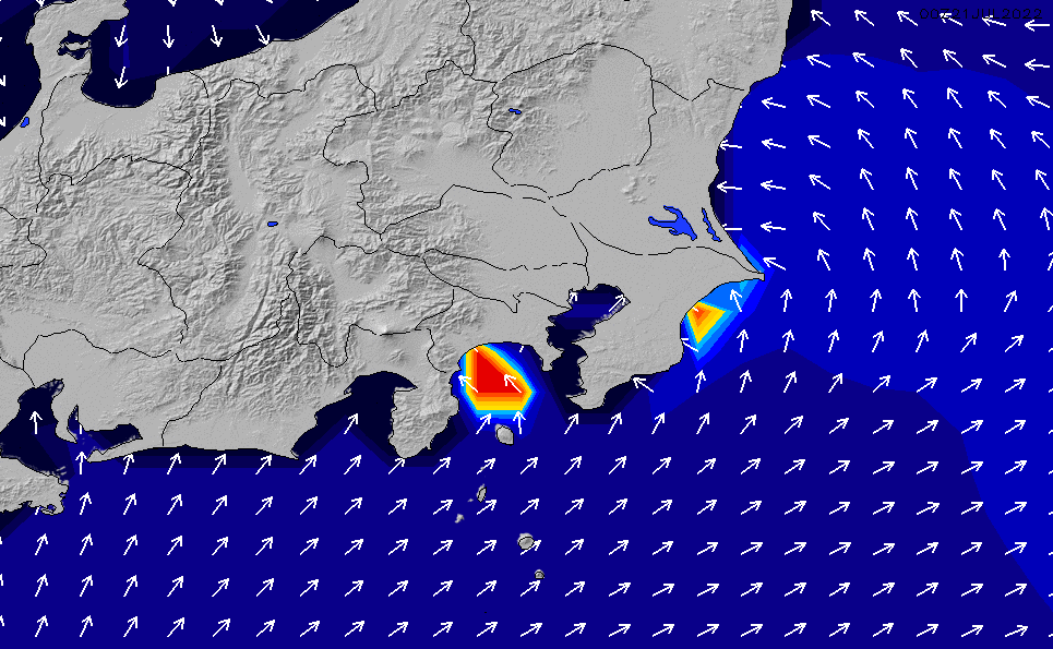2020/3/29(日)21:00ポイントの波周期