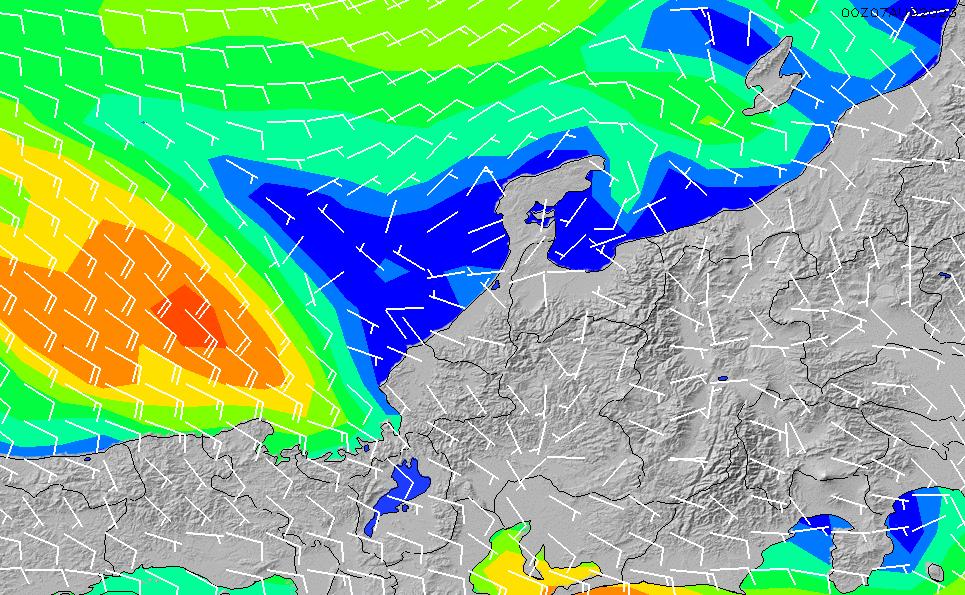 2020/1/23(木)15:00風速・風向