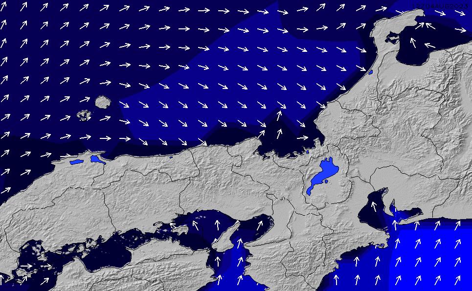 2020/1/24(金)21:00ポイントの波周期