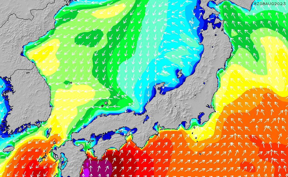 2020/2/18(火)9:00波高チャート