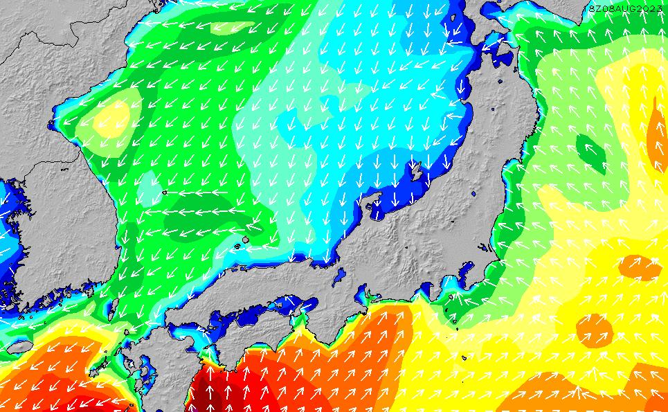 2021/1/25(月)21:00波高チャート