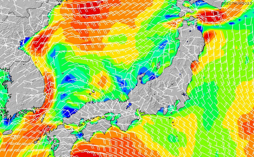 2020/1/26(日)15:00風速・風向