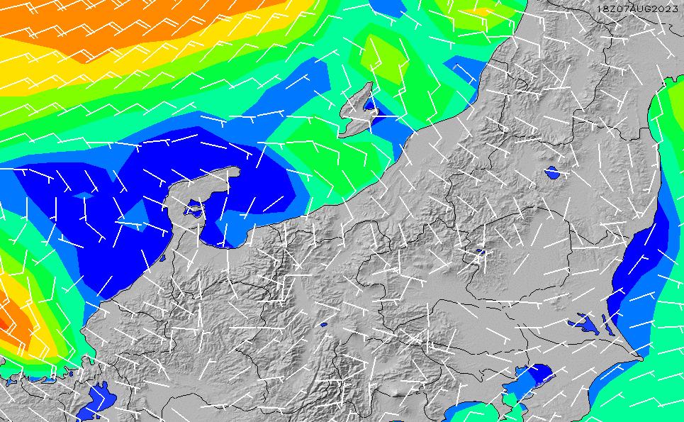 2020/9/29(火)9:00風速・風向