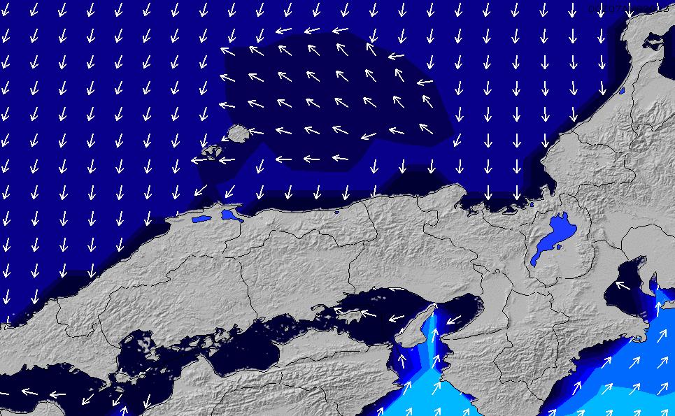 2021/1/25(月)21:00ポイントの波周期