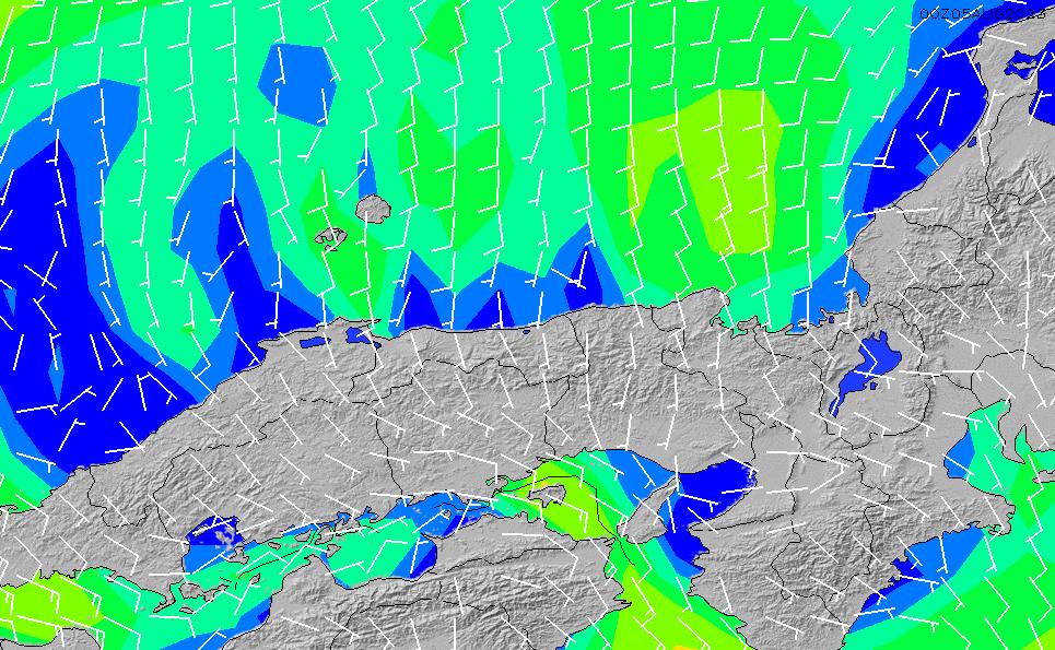 2020/9/19(土)15:00風速・風向