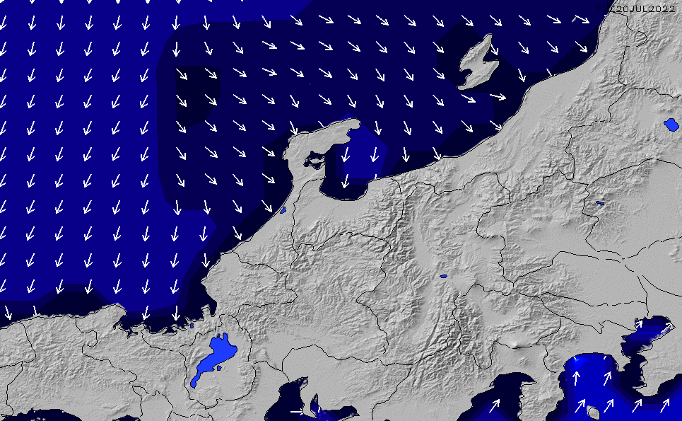 2020/1/22(水)9:00ポイントの波周期