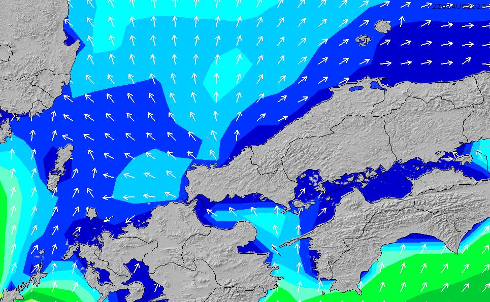 2020/4/8(水)3:00波高チャート