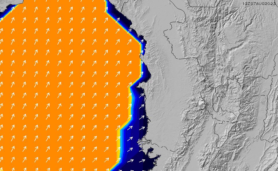 2020/9/27(日)23:00ポイントの波周期