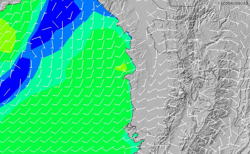 2021/5/11(火)23:00風速・風向