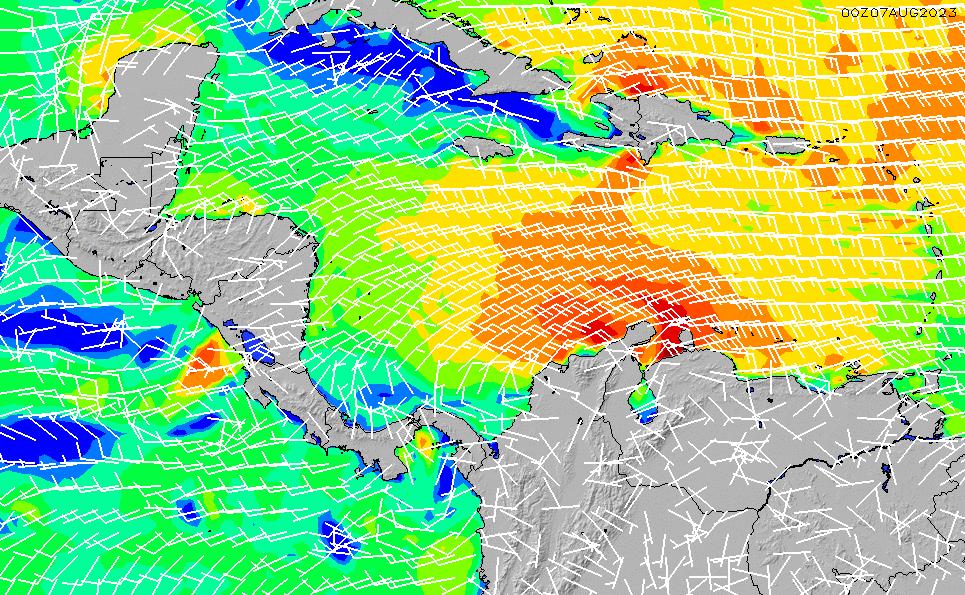 2021/3/8(月)6:00風速・風向